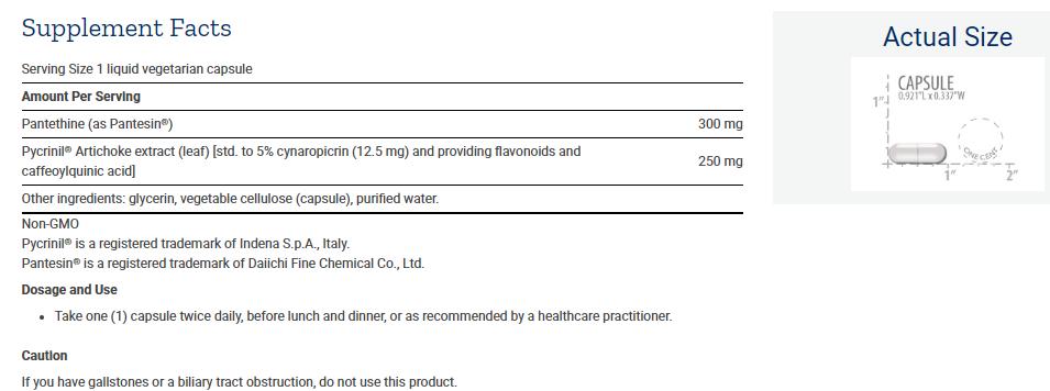 Tabela Nutricional CHOL-Support™
