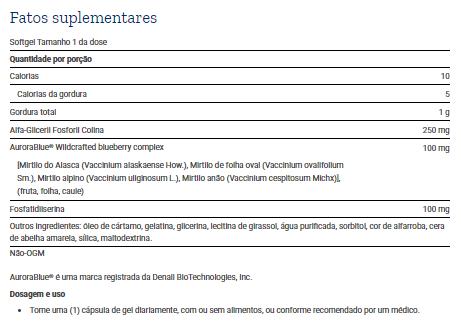 Tabela Nutricional Cognitex® Basics