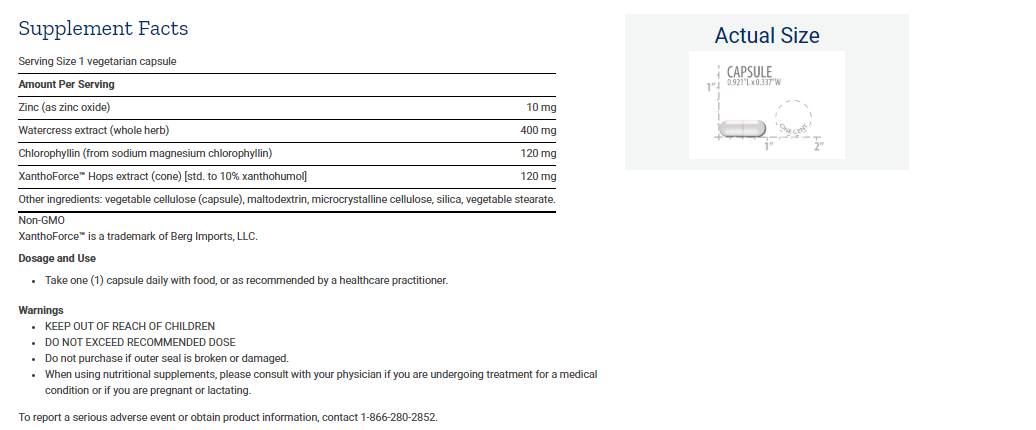 Tabela Nutricional DNA Protection Formula