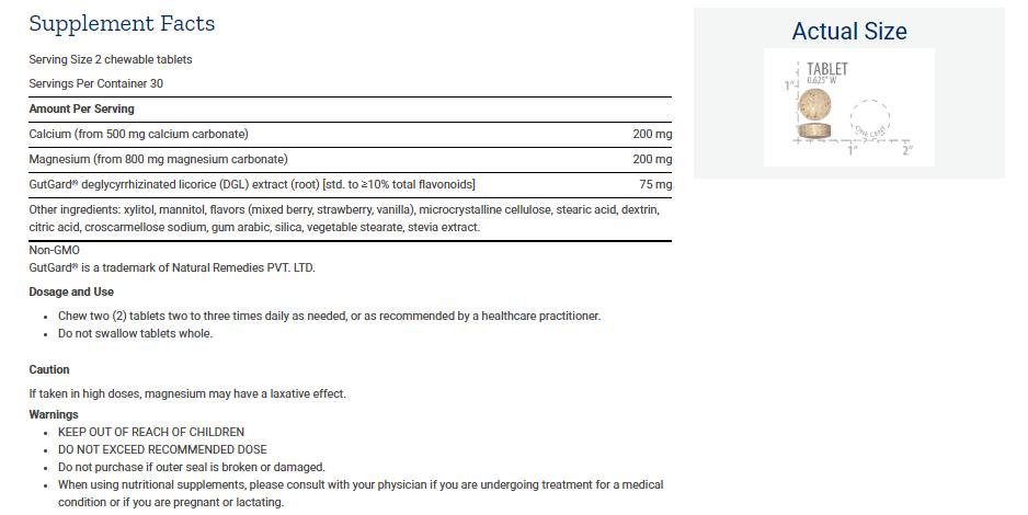 Tabela Nutricional EsophaCool™