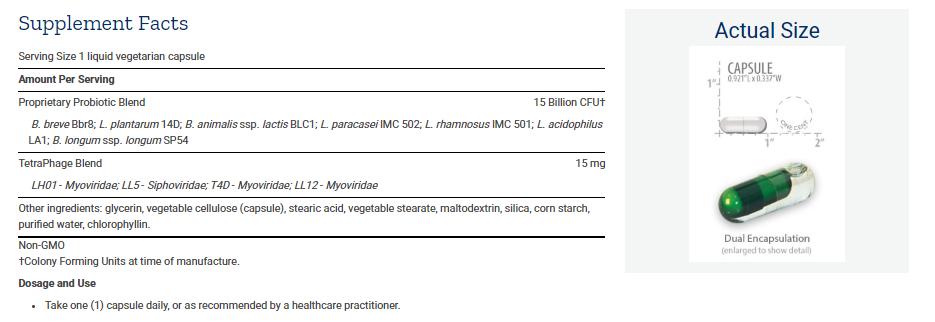 Tabela Nutricional FLORASSIST® GI with Phage Technology