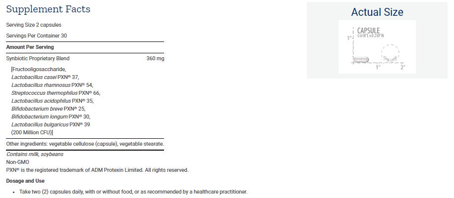 Tabela Nutricional FLORASSIST® Liver Restore™