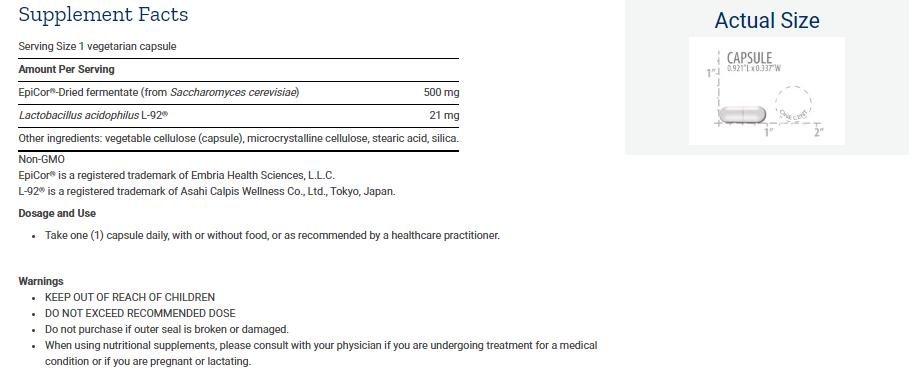 Tabela Nutricional FLORASSIST® Nasal