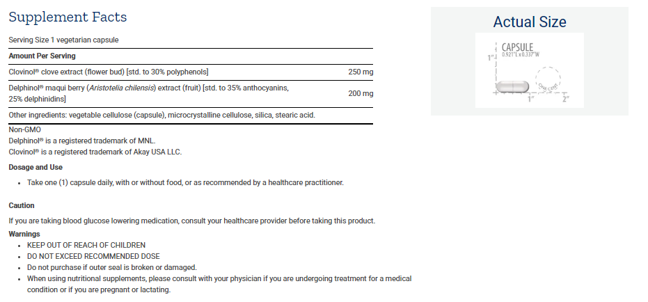 Tabela Nutricional Glycemic Guard™