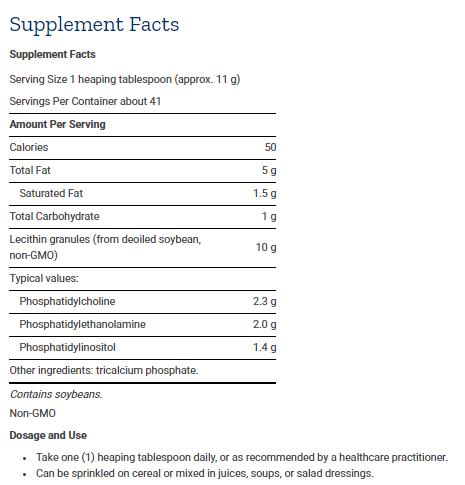 Tabela Nutricional Lecithin