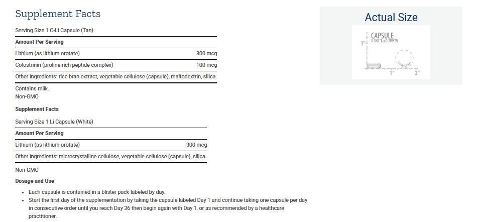 Tabela Nutricional Memory Protect - Suplemento para Memória