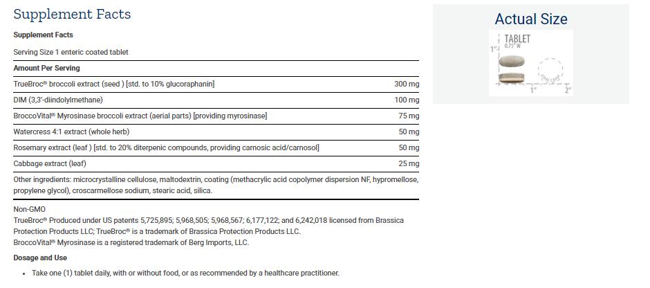 Tabela Nutricional Optimized Broccoli and Cruciferous Blend