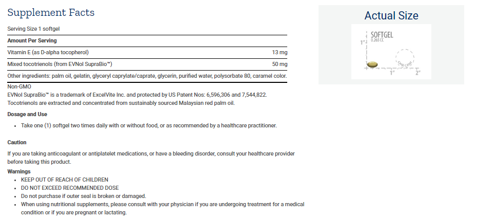 Tabela Nutricional Super Bio-Curcumin® Turmeric Extract