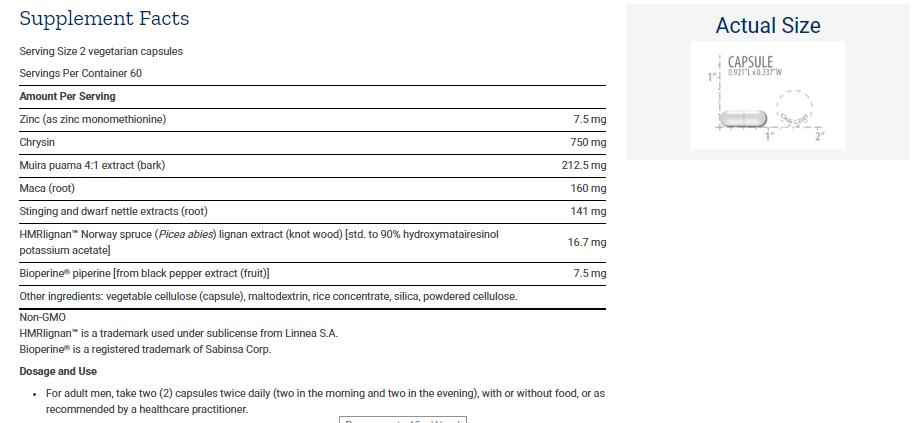 Tabela Nutricional Super Miraforte with Standardized Lignans