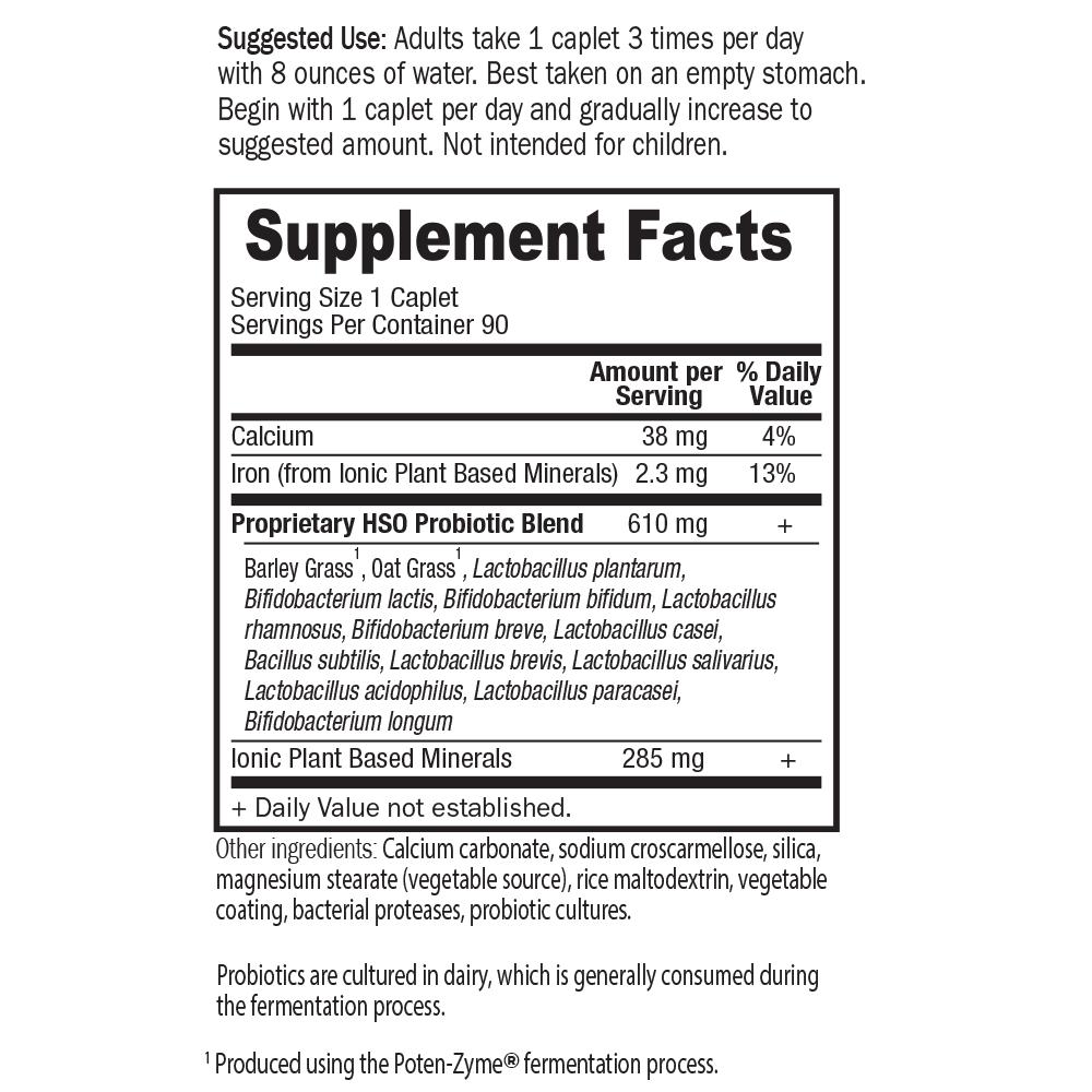 Tabela Nutricional Primal Defense® HSO Formula