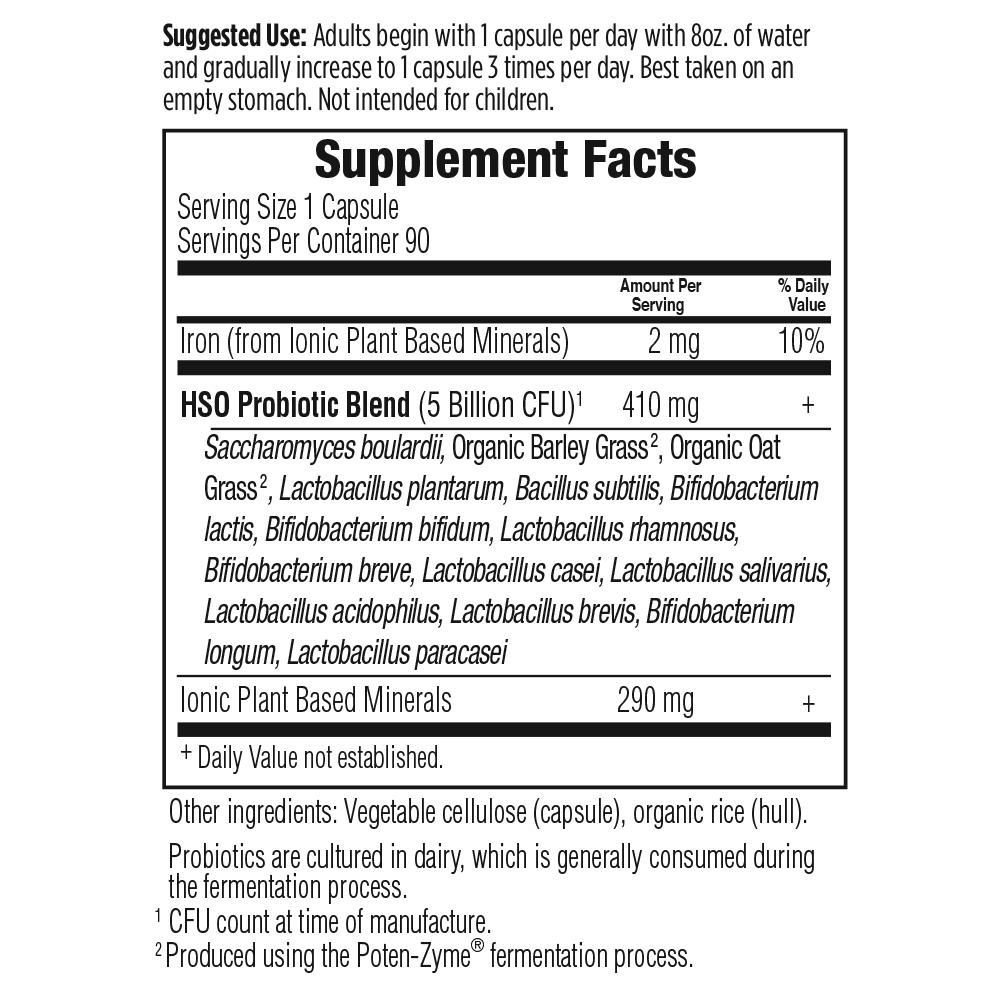 Tabela Nutricional Primal Defense® ULTRA - Probiótico para o Intestino