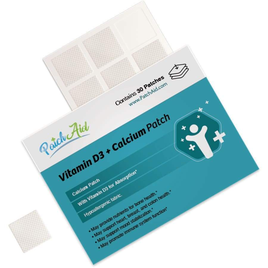Vitamin D3 Plus Calcium Vitamin Patch by PatchAid