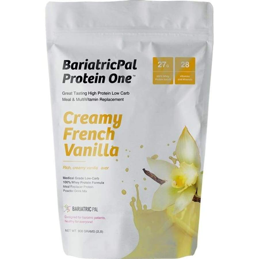 BariatricPal Protein ONE: MultiVitamin, Calcium, Iron, Fiber & Meal Replacement Creamy French Vanilla