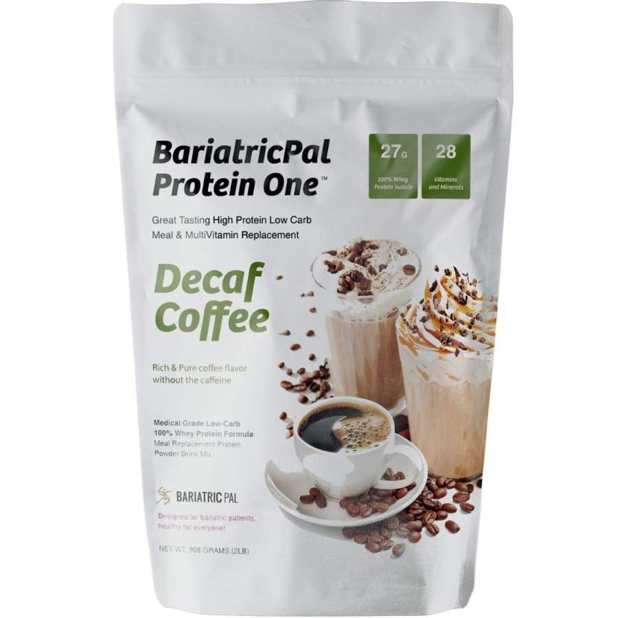 BariatricPal Protein ONE: MultiVitamin, Calcium, Iron, Fiber & Meal Replacement Decaf Coffee