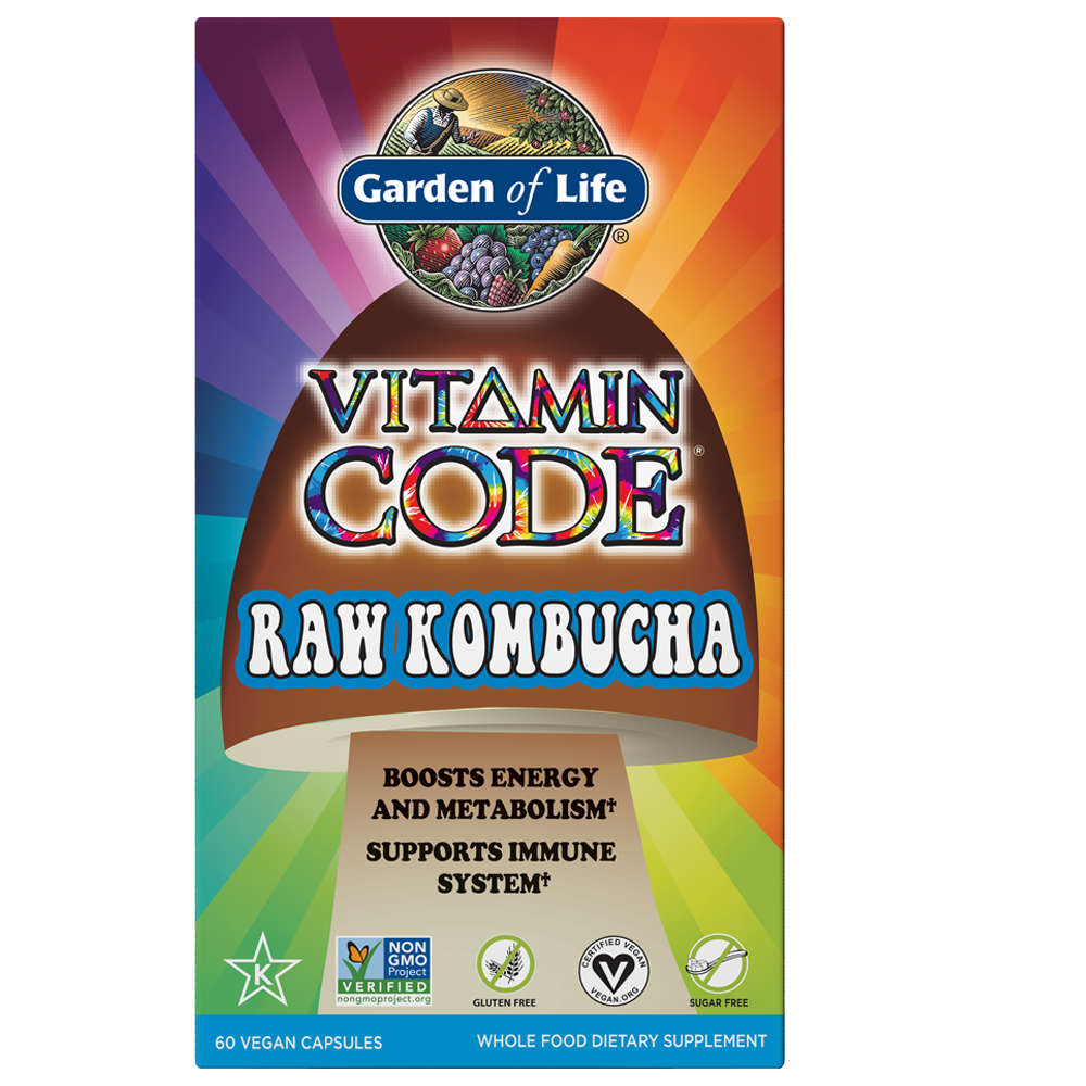 Vitamin Code® RAW Kombucha 60 Vegetarian Capsules