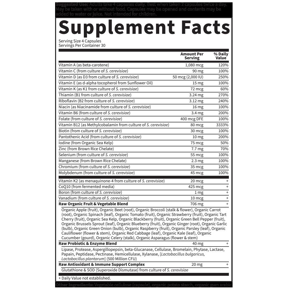 Tabela Nutricional Vitamin Code 50 & Wiser Women