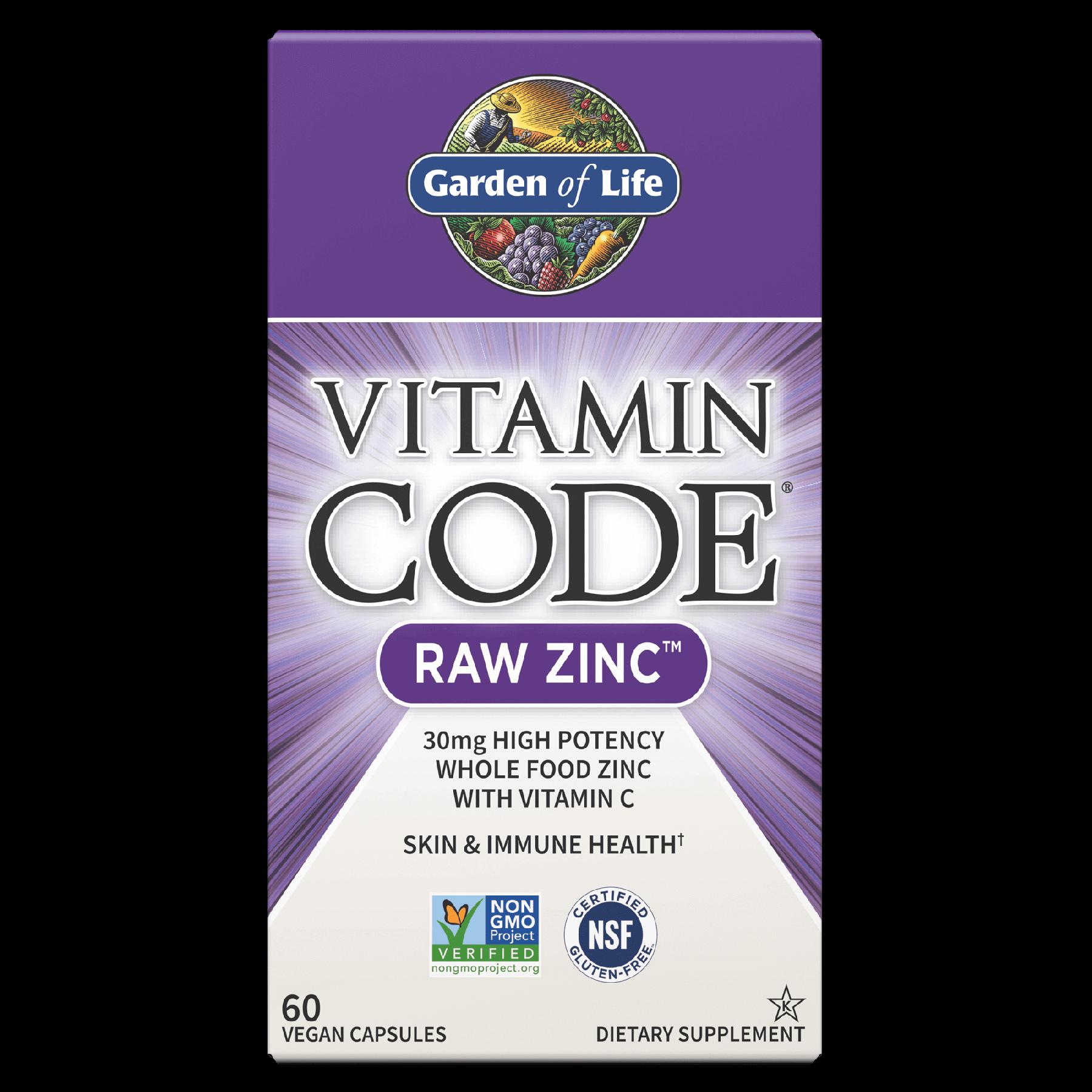 Vitamin Code Raw Zinc 60 Vegan Capsules