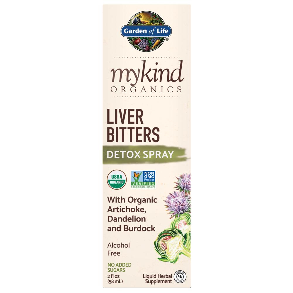 Mykind Organics Fígado Bitters Detox Spray 2 fl oz (58 ml)