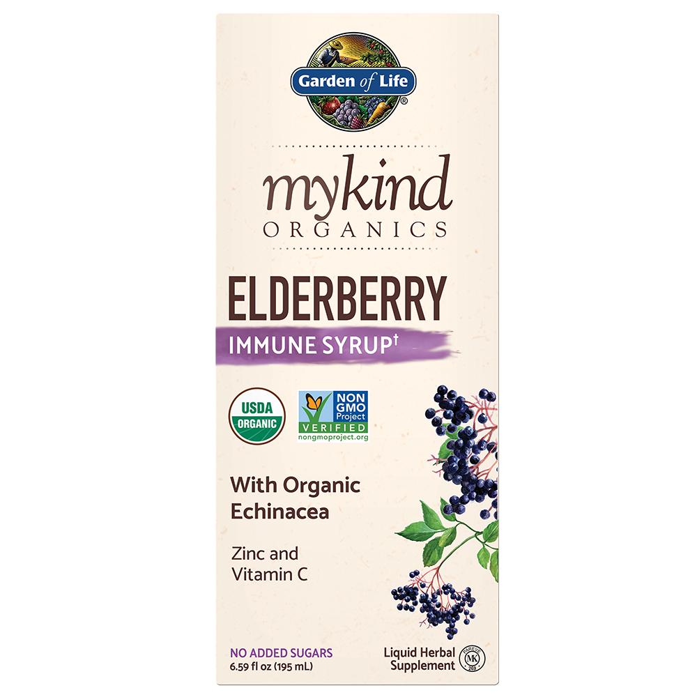 mykind Organics Elderberry Syrup 6.59 fl oz (195 ml)