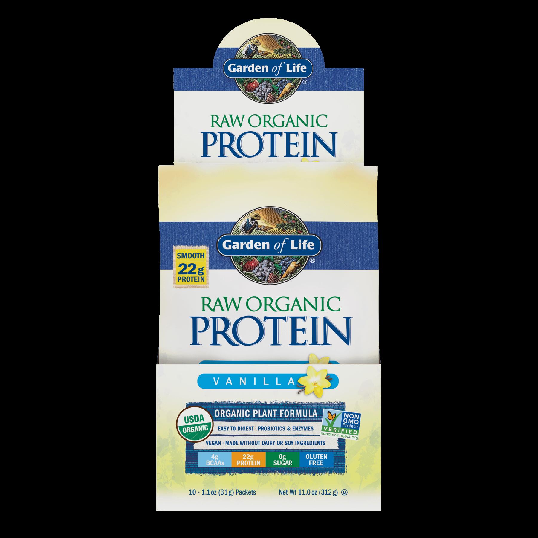 Raw Organic Protein Powder -10 Sachês