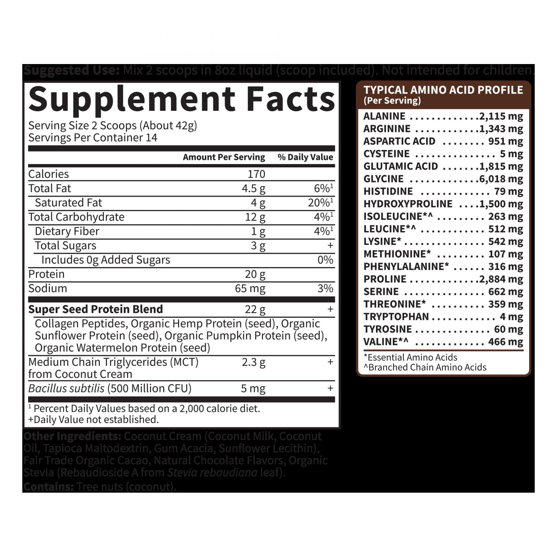 Tabela Nutricional Collagen Protein - (14 Porções)