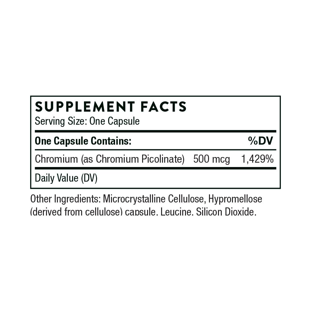 Tabela Nutricional Chromium Picolinate