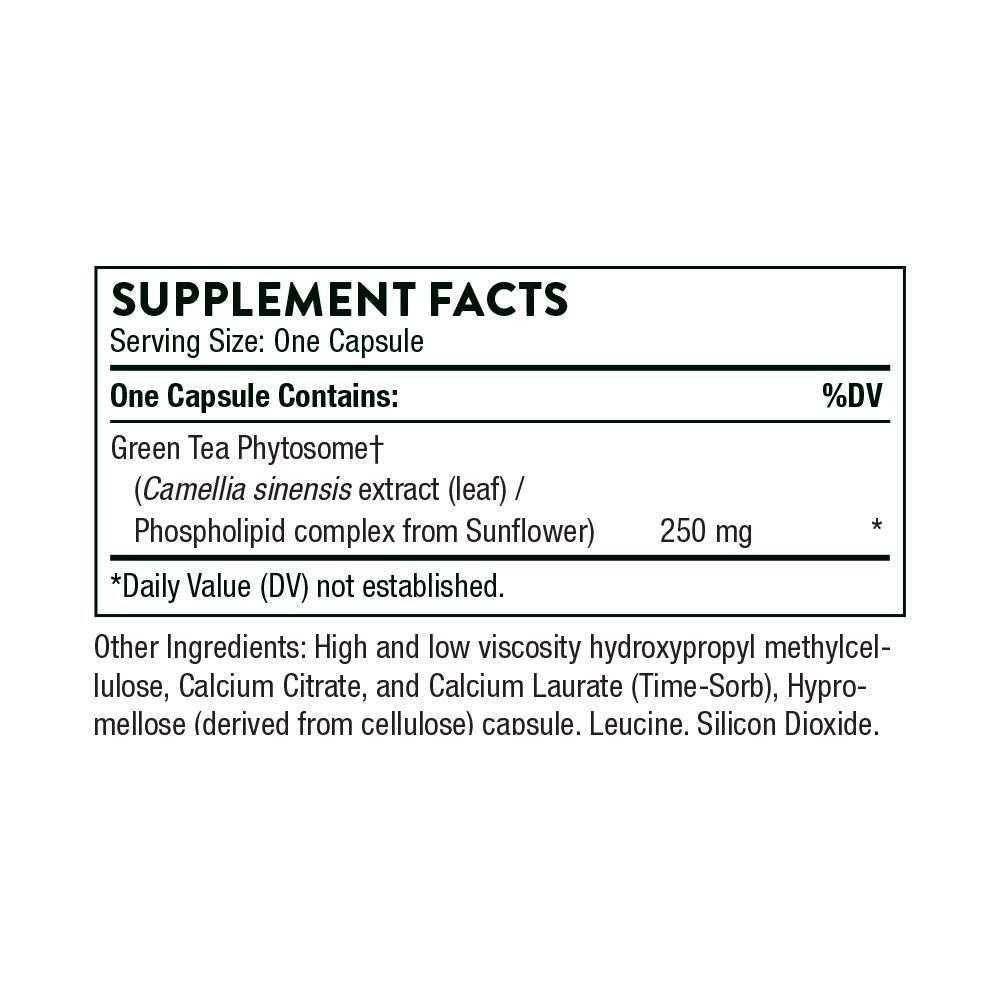 Tabela Nutricional Green Tea Phytosome