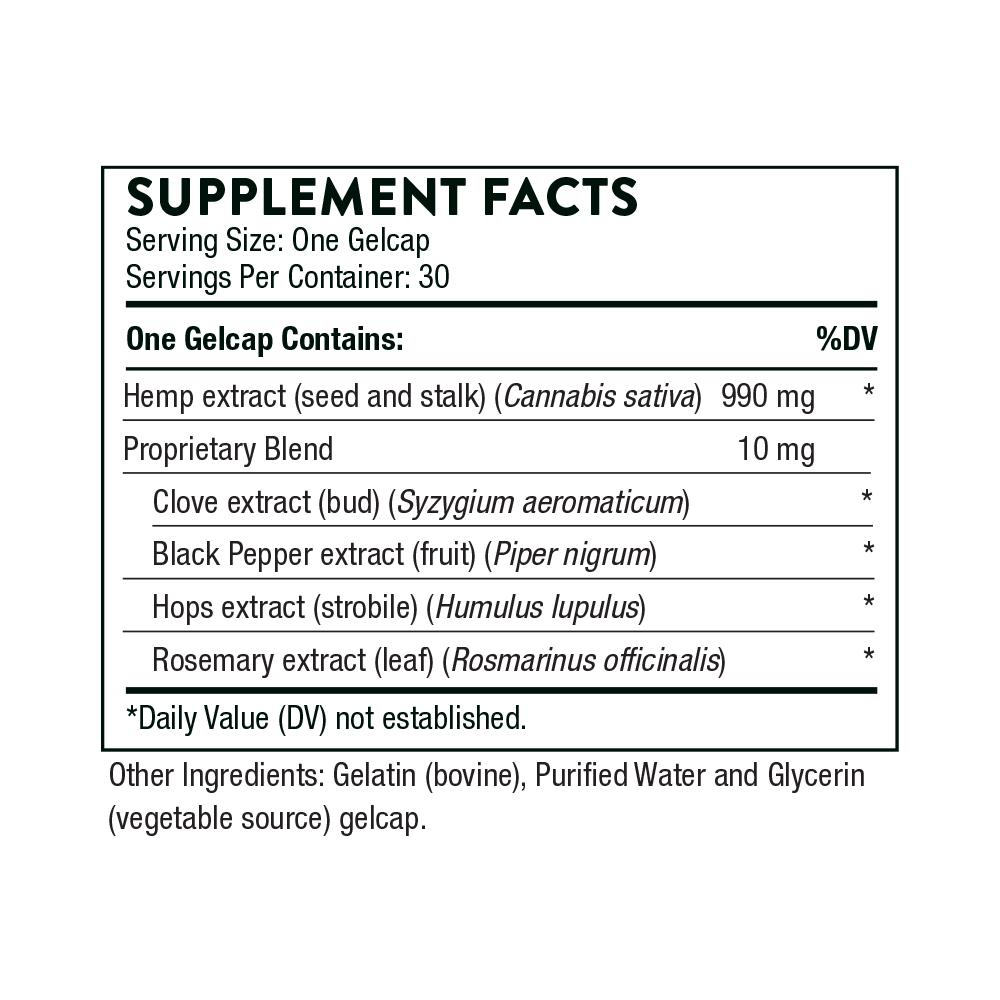 Tabela Nutricional Hemp Oil +