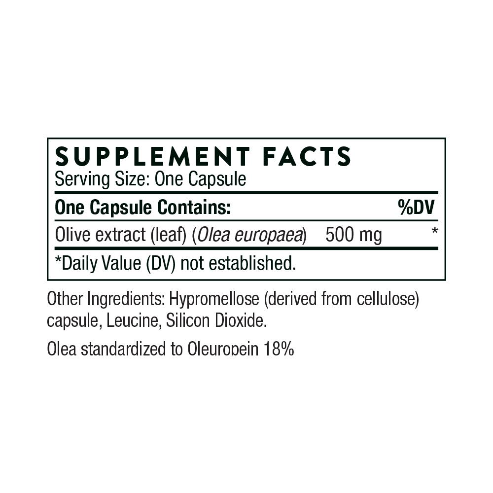 Tabela Nutricional Olive Leaf Extract