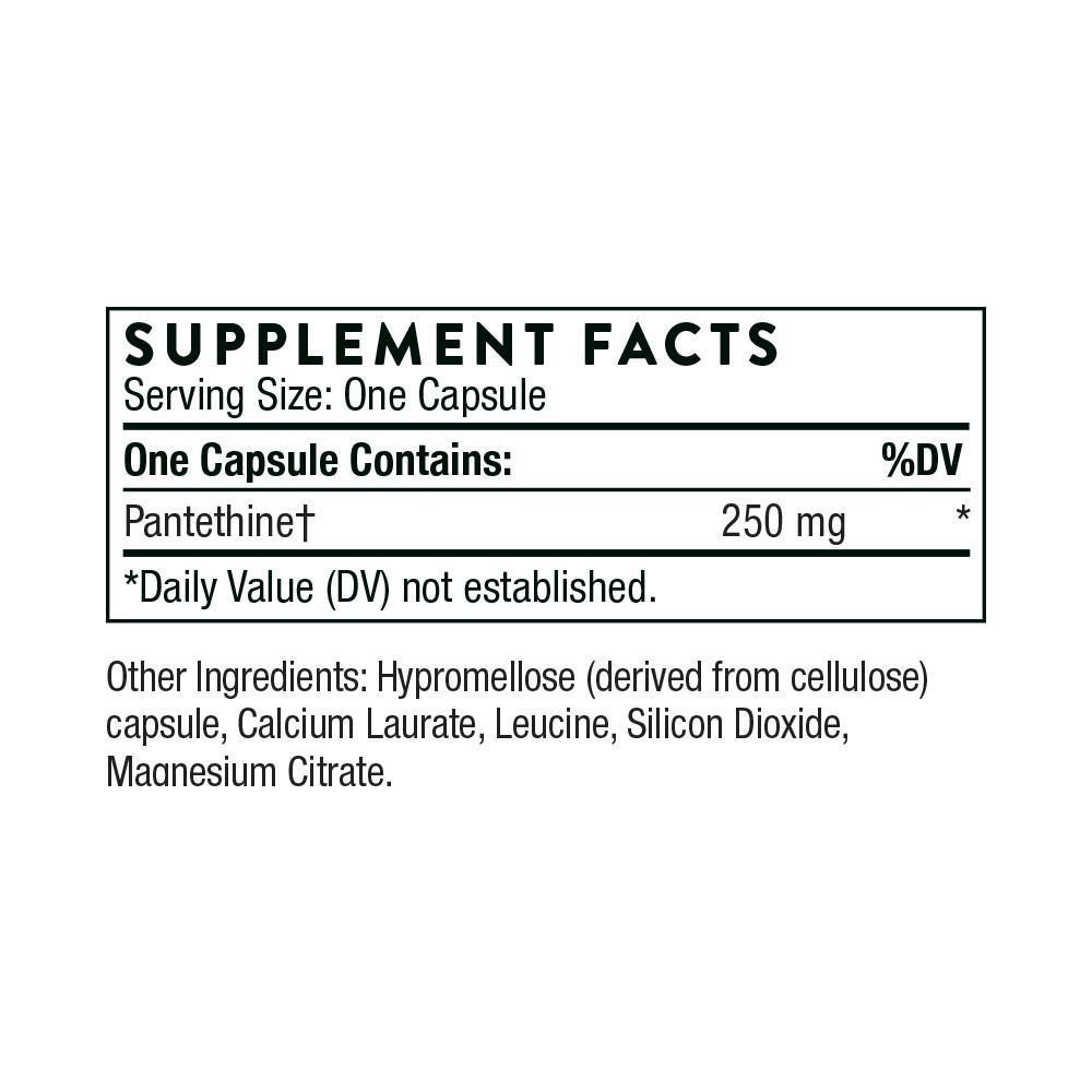 Tabela Nutricional Pantethine