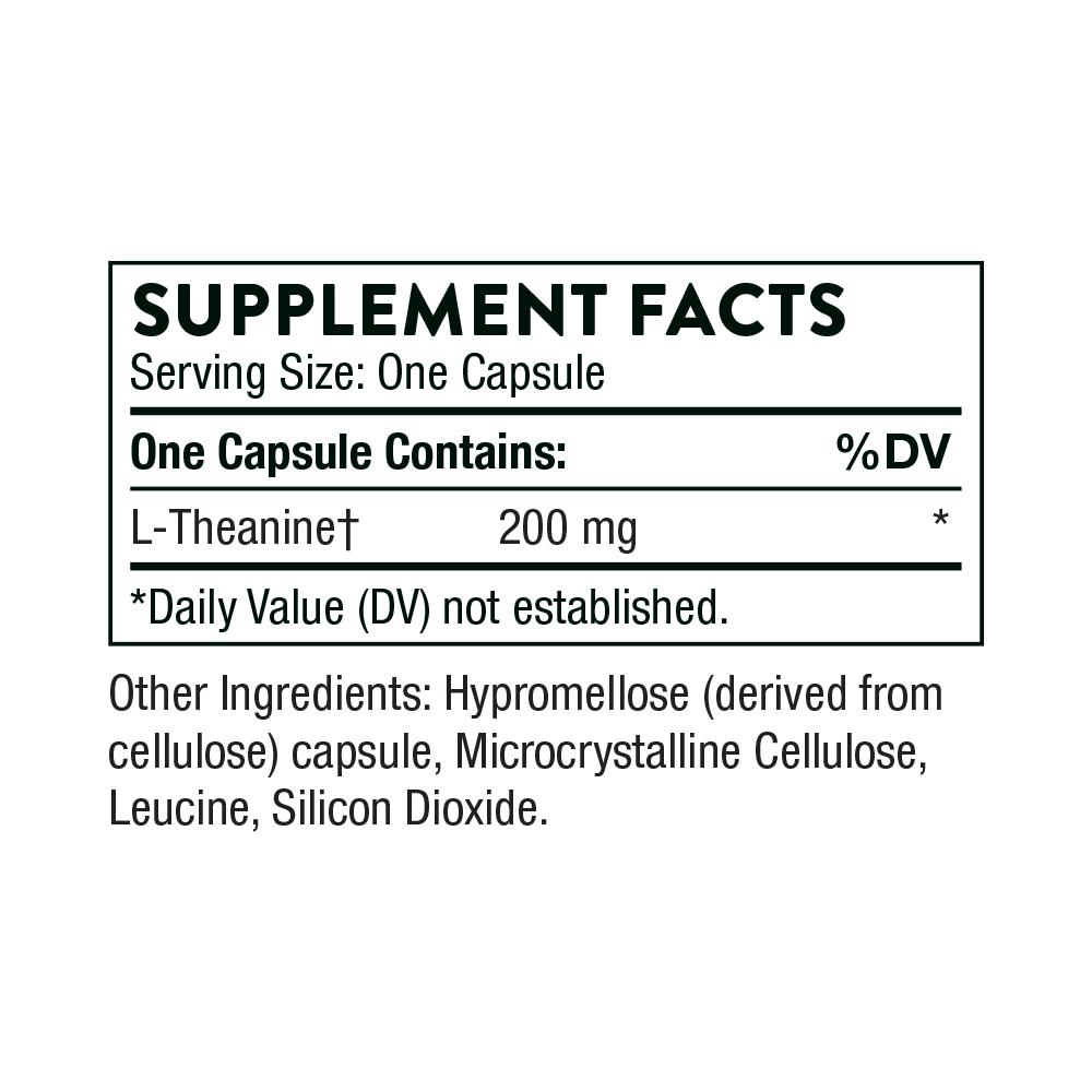 Tabela Nutricional Theanine