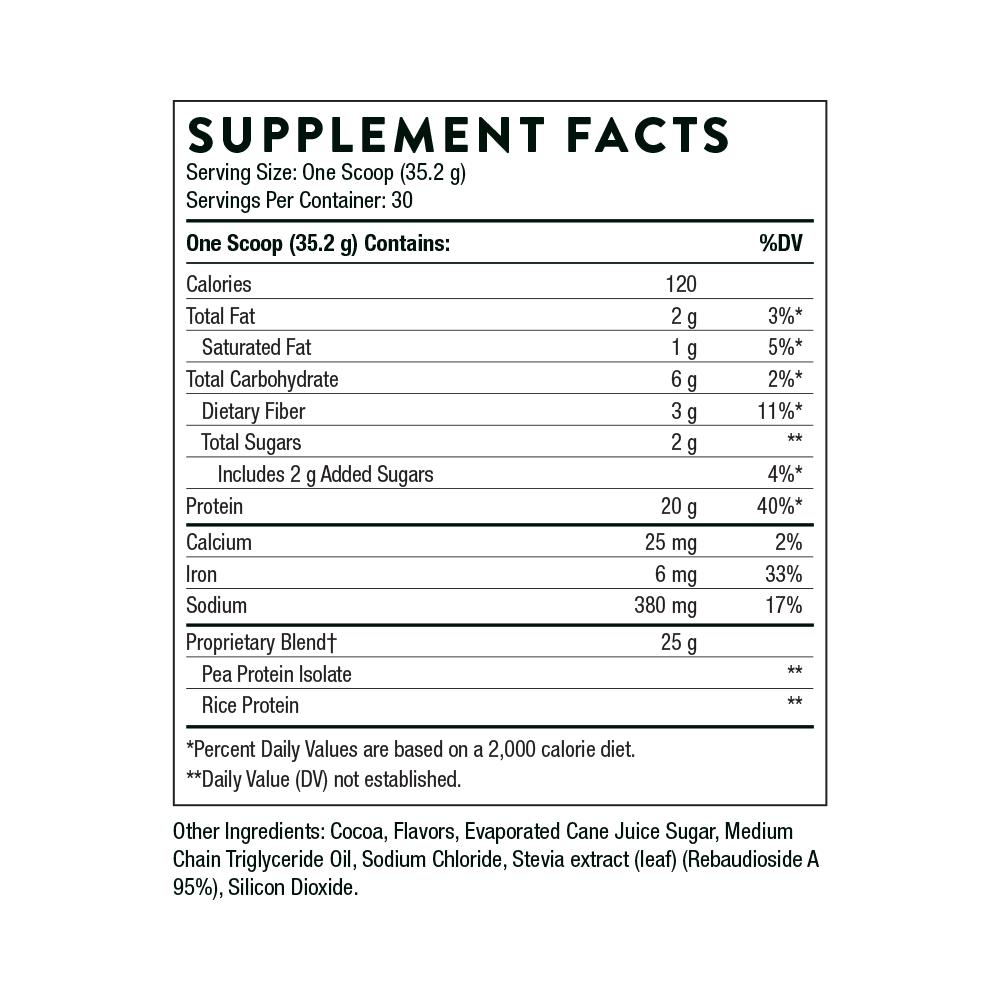 Tabela Nutricional VegaLite