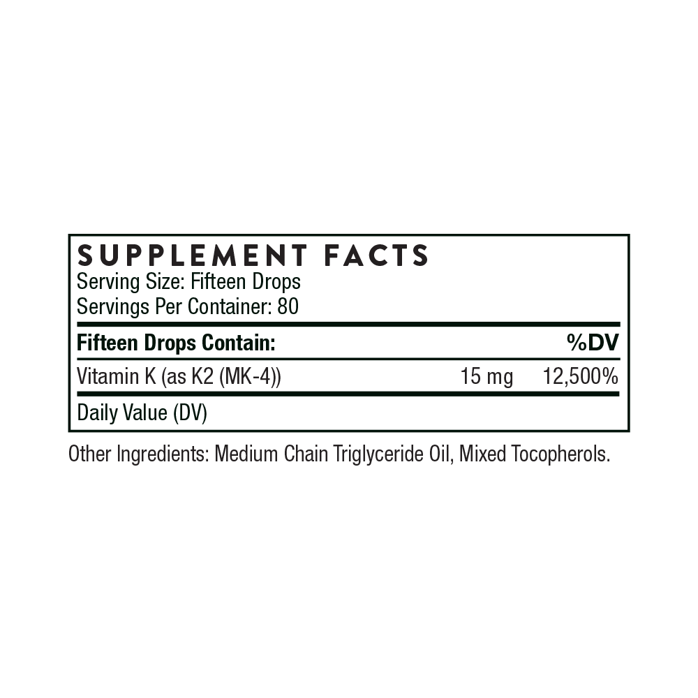 Tabela Nutricional Vitamin K2